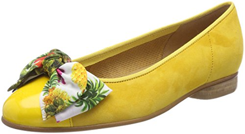 Gabor Shoes Damen Basic Geschlossene Ballerinas, Gelb (Sun), 40.5 EU (Gelbe Ballerinas)