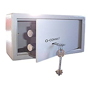 Q-Connect Safe Key Operated with 6 L Capacity - Grey