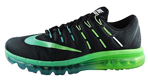 Nike Air Max 2016, Chaussures de Running Entrainement Homme Noir (Black (noir / multi-couleur minuit turq))