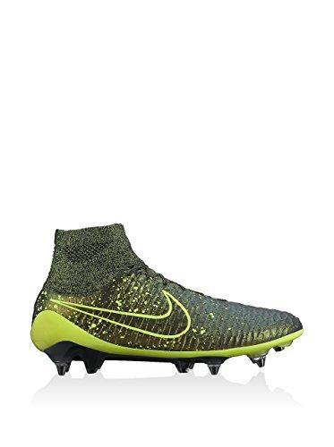 Nike Herren Magista Obra Sg-Pro Fußballschuhe, 42 EU Goldfarben / Grün (Dark Citron / Volt-Black-Black)
