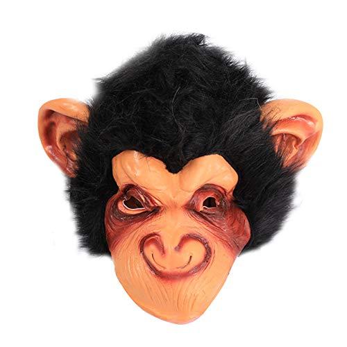 Westeng Halloween Maske Schimpanse Maske in Latex Gorilla Kopfbedeckung Cosplay Kostüm Karneval Party Maske (Schimpanse)