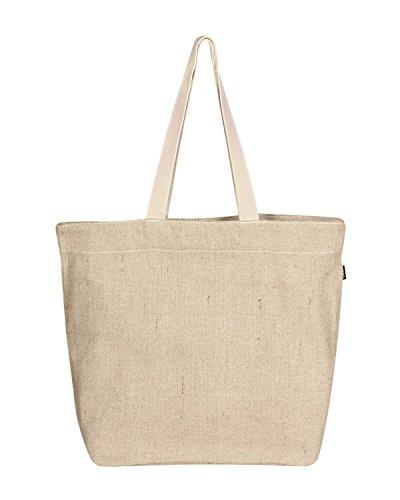 Eono Essentials Tragetasche, 100% Jute / Baumwolle, wiederverwendbar, umweltfreundlich, groß, Beige (natürlich)