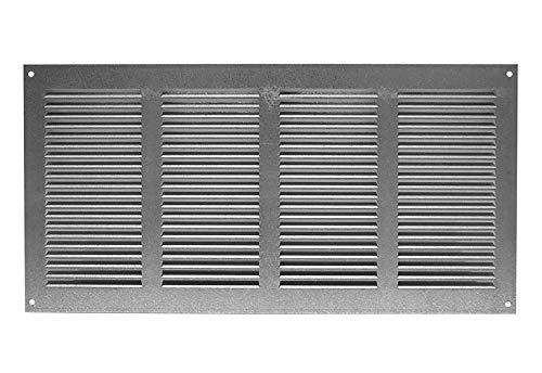 Rejilla de ventilación (galvanizada, 400 x 200 mm, con protección contra insectos)
