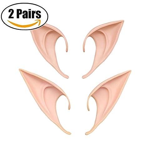 2 paires différentes oreille elfe des oreilles d'elfe cosplay fées halloween de conseils a l'oreille de prothèse accessories