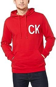 Calvin Klein Jeans Men's Statement Logo Hoodie, Black (Ck Black/White 099), X-S
