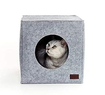 PiuPet® Panier chat coussin inclus | Compatible avec IKEA® Kallax étagères