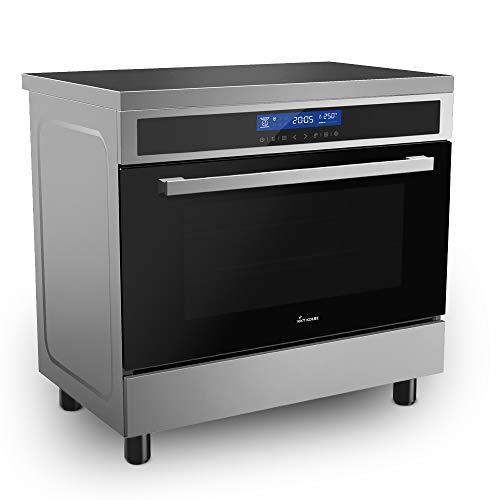 Cocina independiente con placa de inducción 90 cm
