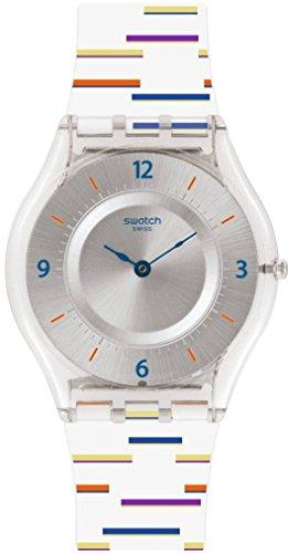 Swatch Orologio Digitale Quarzo da Donna con Cinturino in Plastica SFE108