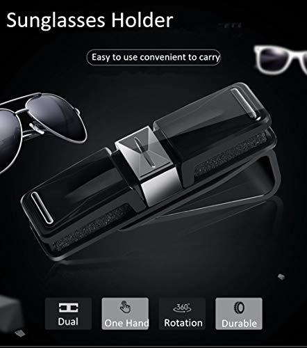 FireAngels Sonnenbrillen-Halter / Brillenhalter für KFZ-Sonnenblende, mit Clip zur Befestigung, beide Enden verwendbar, für alle Brillen