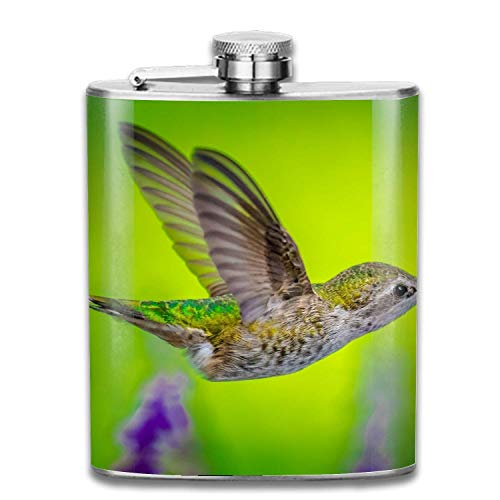EJUNLEKEJI Flachmann aus Edelstahl,Winter Bird 304 Stainless Steel Leak-Proof Alcohol Whiskey Liquor Wine 7OZ Pot Hip Flask Outdoor Portable small hip Flask Safe and Leak-Proof Personalized -