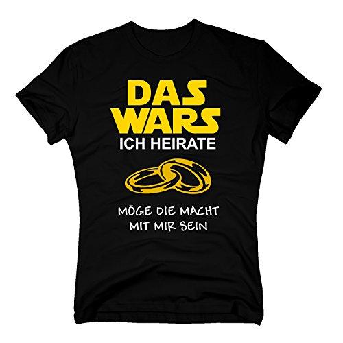 Das Wars Shirt Herren - Ich heirate - Junggesellenabschied Bräutigam JGA - von Shirt Department, schwarz-gelb, XL