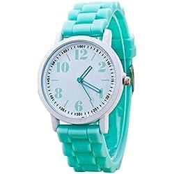 Sunnywill Neue Mode Silikon Motion Quarz Uhren für Frauen Mädchen Damen