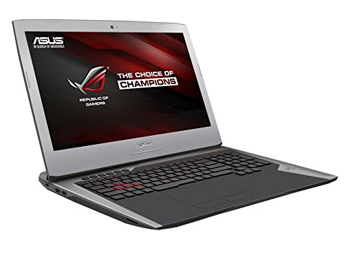 Asus ROG G752VT-GC113T Notebook, Display 17.3 Pollici Full HD, Processore Intel Core i7-6700HQ, RAM 16 GB, HDD 1 TB 7.200rpm + 128 GB SSD, Sezione Grafica NVIDIA GeForce GTX 970M, Argento