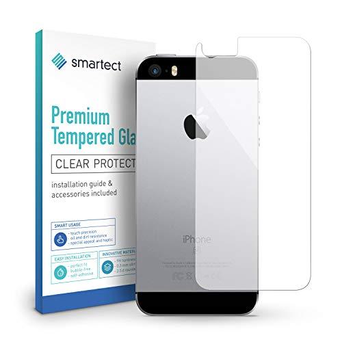 smartect Panzerglas für iPhone SE / 5 / 5s / 5c [Rückseite] - Displayschutz mit 9H Härte - Blasenfreie Schutzfolie - Anti Fingerprint Panzerglasfolie (Iphone 5s-rot Ersatz-glas)