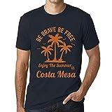 Photo de Homme T Shirt Graphique Imprimé Vintage Tee be Brave & Free Enjoy The Summer Costa Mesa Marine par One in the City