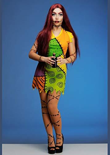 Doll Erwachsene Kostüm Für Rag - Magic Box Int. Alptraum vor Weihnachten Stil Sally Rag Doll Kostüm Medium (UK 10-12)