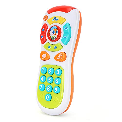 ontrol, Early Development Educational Learning Lights Remote Toy, Click & Count Electronic Phone Toy with Music for Kids Toddler Infants - Colorful ()