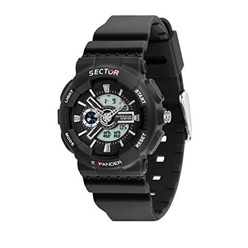 Sector NO Limits Reloj Analógico-Digital para Hombre de Cuarzo con Correa en Plástico R3251515002