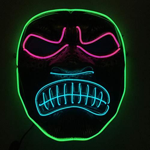 -Maske, Halloween-Maske Beleuchtet Lustige Maske Großen Festival Cosplay Kostüm Party-Maske In der Dunkelheit ()