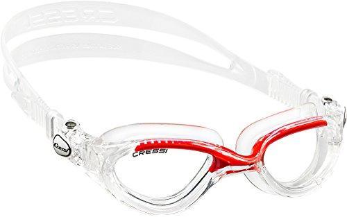 Cressi Flash - Gafas de natación unisex, color transparente / rojo