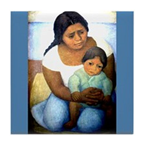 CafePress-Diego Rivera Mutter & Kind Art-Tile Untersetzer, Drink Untersetzer, Untersetzer, Klein - Diego Rivera, Mexikanischer Künstler