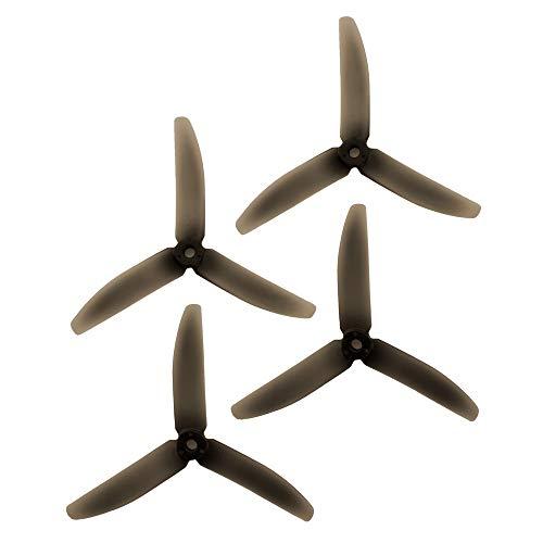 2 VIDOO Original Racekraft 5040 5x4x3 Pair 3 Propeller Blades for RC Drone FPV Racing-Clear Black