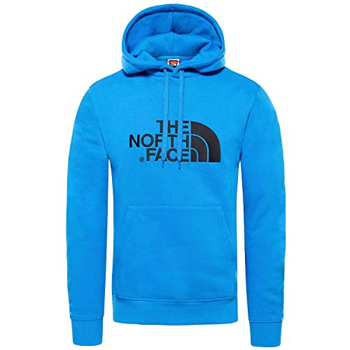 The North Face Drew Peak Sudadera, Hombre, Azul (Bomber Blue/TNF Black), M
