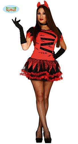 sexy Teufelin Kostüm für Damen Gr. XS/S-M, - Sexy Teuflische Teufel Kostüm