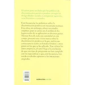 La discriminación positiva en el mundo: estudio empírico (Colección verde)