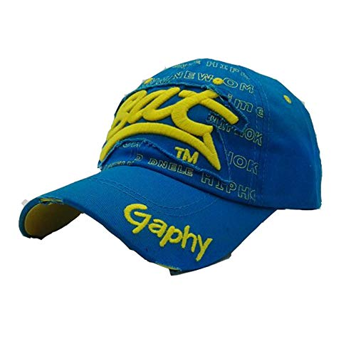 Imagen de lcdy alfabeto  de béisbol, lengua masculina y femenina pato  de béisbol,  de béisbol para adultos, sombrero para deportes al aire libre,blue,54 * 62cm