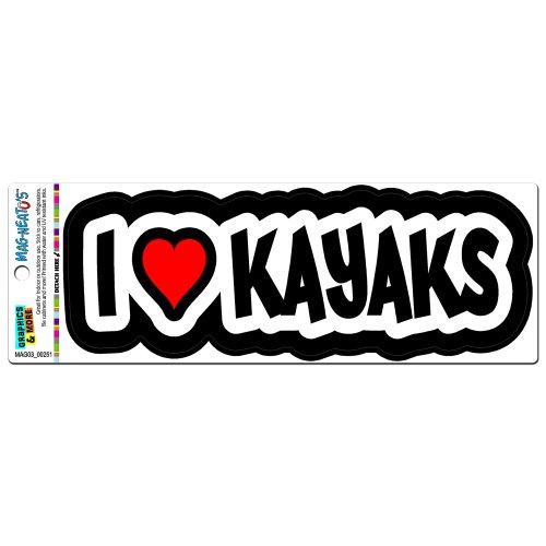 I Love MAG Kajak-Kajakfahren-NEATO'S (TM) Automotive Motorhaube Boot Locker Kühlschrank Vinyl Magnet