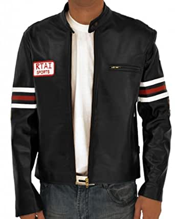House M.D. Gregory Real Leather Jacket - RTAI Motorcycle Sports Outerwear (3XL)