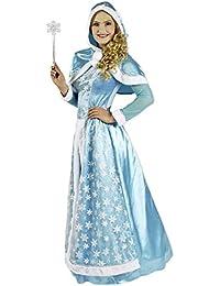 Schneekönigin Kostüm für Damen - Hochwertiges Kostümkleid für Theater, Karneval oder Mottoparty - Eisprinzessin, Eiskönigin Elsa