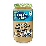 Hero Baby Natur Lenguado con Crema de Bechamel Tarritos de Puré para Bebés a partir de 8 meses Pack de 6 x  235 g