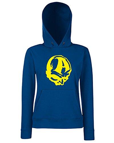 T-Shirtshock - Sweats a capuche Femme FUN0545 alien decals and stickers zz2 99594 Bleu Navy