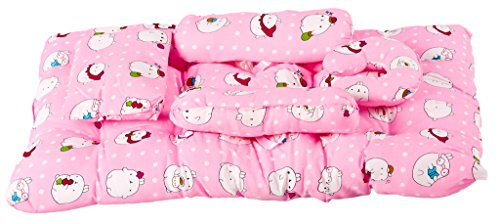 Baybee Baby Blanket Bed with Pillow and Bolster Set (Violet) (Pink)