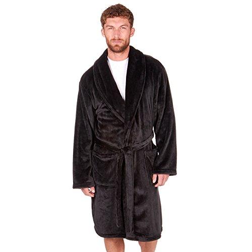 ClothingLogic Herren Morgenmantel XXX-Large Gr. X-Large, schwarz (Silk Sheer Robe)