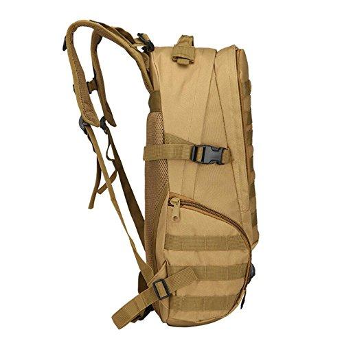 ZX&Q Bergsteigen Camping Outdoor Sport Trekking 40L Camouflage Nylon Wasserdicht Komfortable Belüftung Soft Tactical 3P Rucksack E