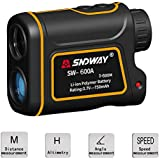 Womdee Telescope Rangefinder 656 Yard with LCD Display, 7X Magnify Golf Rangefinder to Measure Distance, Speed, Angle & Height, IP54 Rangefinder for Golfing, Hunting, Engineering Survey