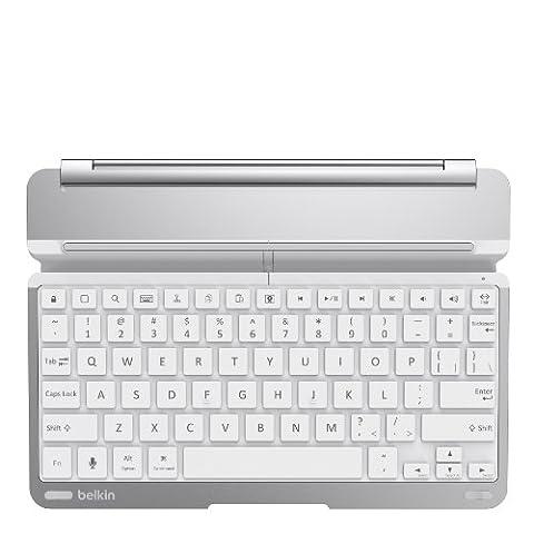 Belkin QODE - Tastaturen für Mobilgeräte (Kabellos, Bluetooth, Apple, iPad Air, Weiß, Aluminium)