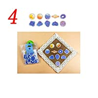 forviupet 3pcs Adhesive Diy Cute Scrapbook Sticker Masking Diary Planner Watercolor Style Sticky Paper
