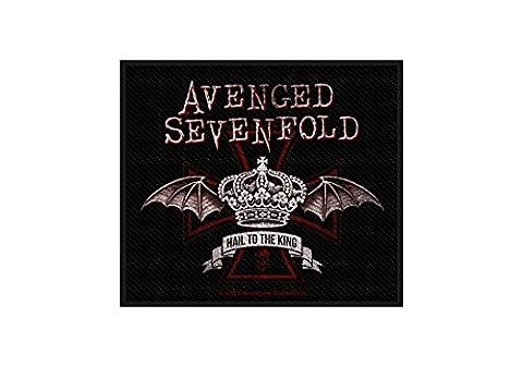Avenged Sevenfold Aufnäher - Red Crown - Avenged Sevenfold Patch - Gewebt & Lizenziert !!