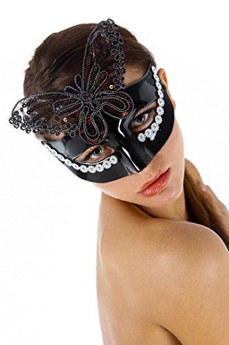 Mask Arade Kostüme (Wolf Kostüm und Abend Libertin.Strass Mesh-Schmetterling, lackiert außen, zu Satinband zu)