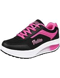 Zapatos para Mujer,Las Mujeres de Moda de Malla de Aumento de Zapatos Blandos Fondo de balancín Zapatos Zapatillas