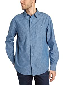Globe Goodstock Men's Shirt Long-Sleeved blue Size:FR : 36 (Taille Fabricant: S)