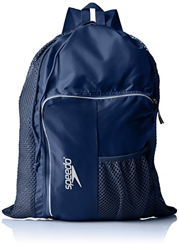 Speedo Deluxe Ventilator Mesh Bag, Navy, 15x15x2 cm