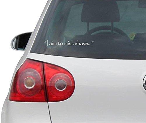Preisvergleich Produktbild Aufkleber / Autoaufkleber - JDM - Die cut - I Aim To Misbehave Quote Firefly Decal Auto Sticker - silber -152mm x 101 mm
