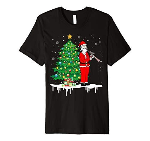 Weihnachtsmann, der Flöten-Piccolo-lustiges T-Shirt -