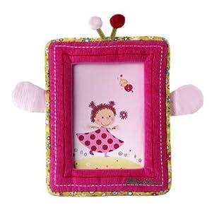 Lilliputiens 86092 - Marco de tela para fotos, diseño de Liz, color rosa