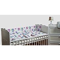 Set completo di 6 pezzi lenzuola per lettino 120x60 neonato bambino